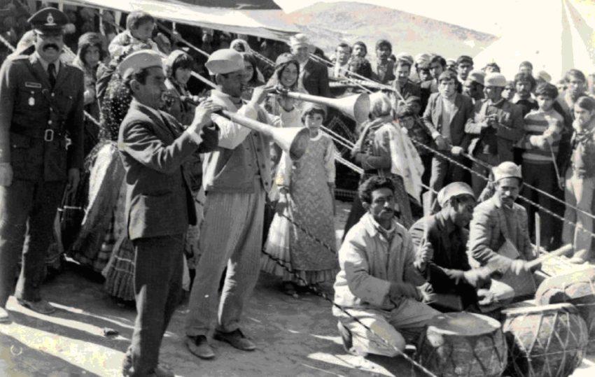 Qashqai musicians, most likely Koroš, circa 1960s